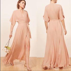 NEW REFORMATION Winslow Dress Peach